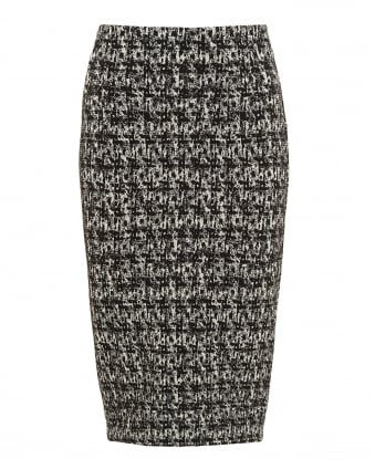 Womens Indio Skirt, Monochrome Jersey Pencil Skirt
