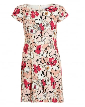 Womens Lume Dress, Floral Pink Multi Dress