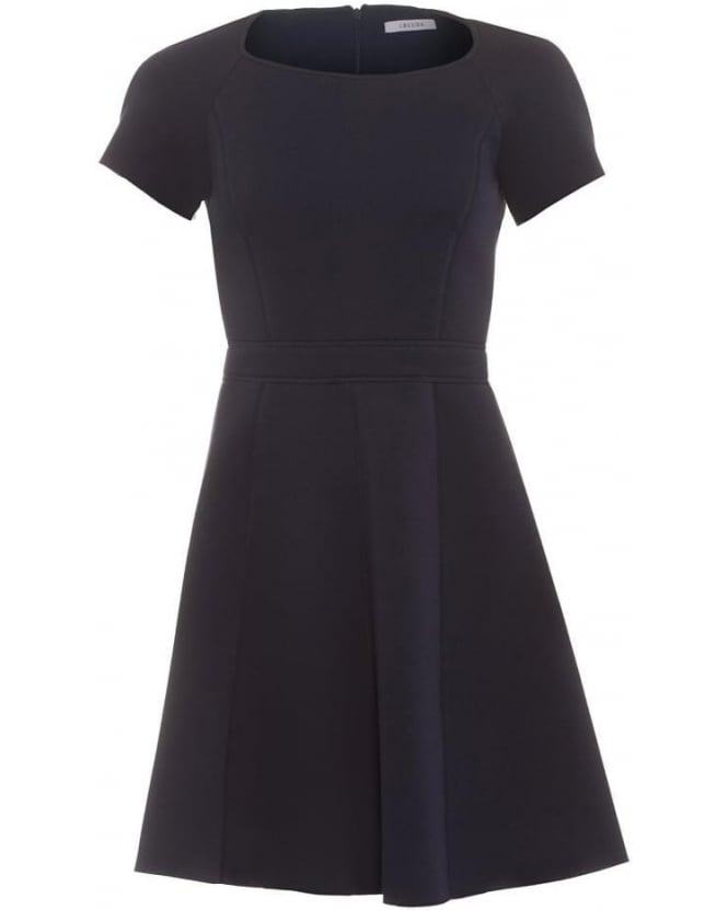 I Blues Womens Pandoro Dress, Navy Blue Flare Skater