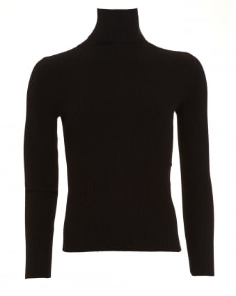 Womens Rapallo Turtle Neck Black Jumper