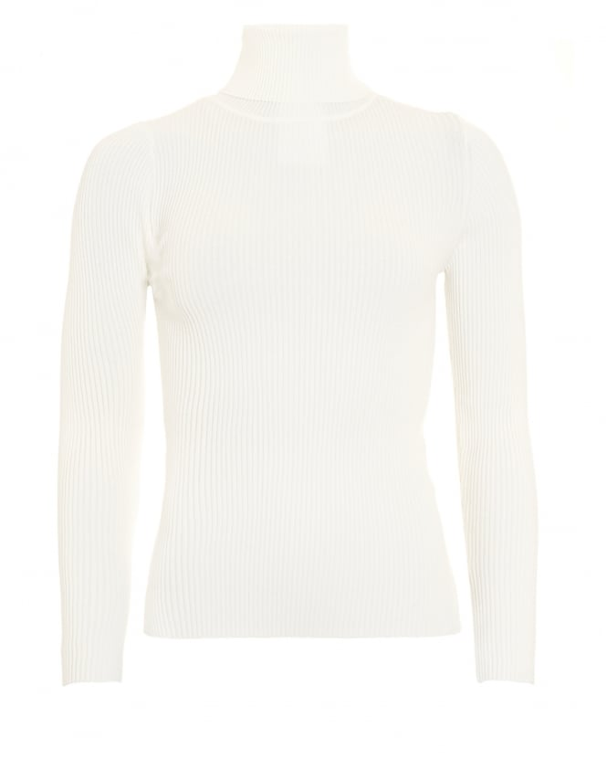 I Blues Womens Rapallo Turtle Neck White Jumper