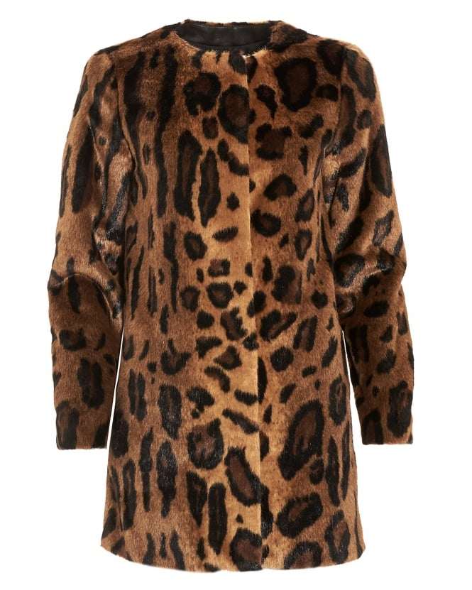 I Blues Womens Result Coat, Animal Print Textured Jacket