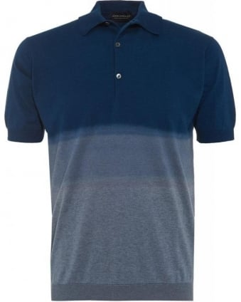 Indigo 'Tiller' Dip Dye Slim Fit Polo Shirt
