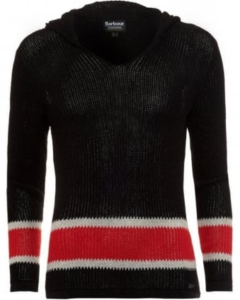 International Black and Red 'Electra Hood' Mesh Knit