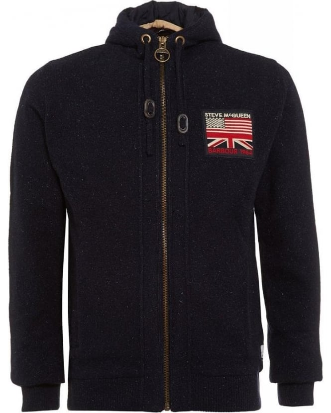 Barbour International, Black Steve McQueen™ Hendley Hoodie