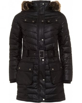 International Black Streak Hownsgill Parka, Black Quilted Jacket
