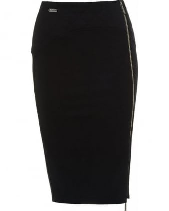 International Black 'Ventura' Fitted Pencil Skirt