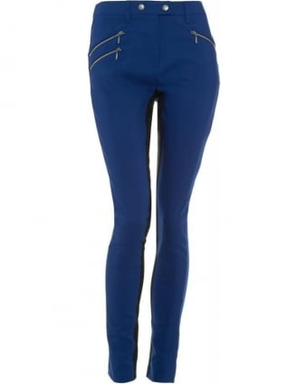 International, Blue Stretch Cotton 'April' Trousers