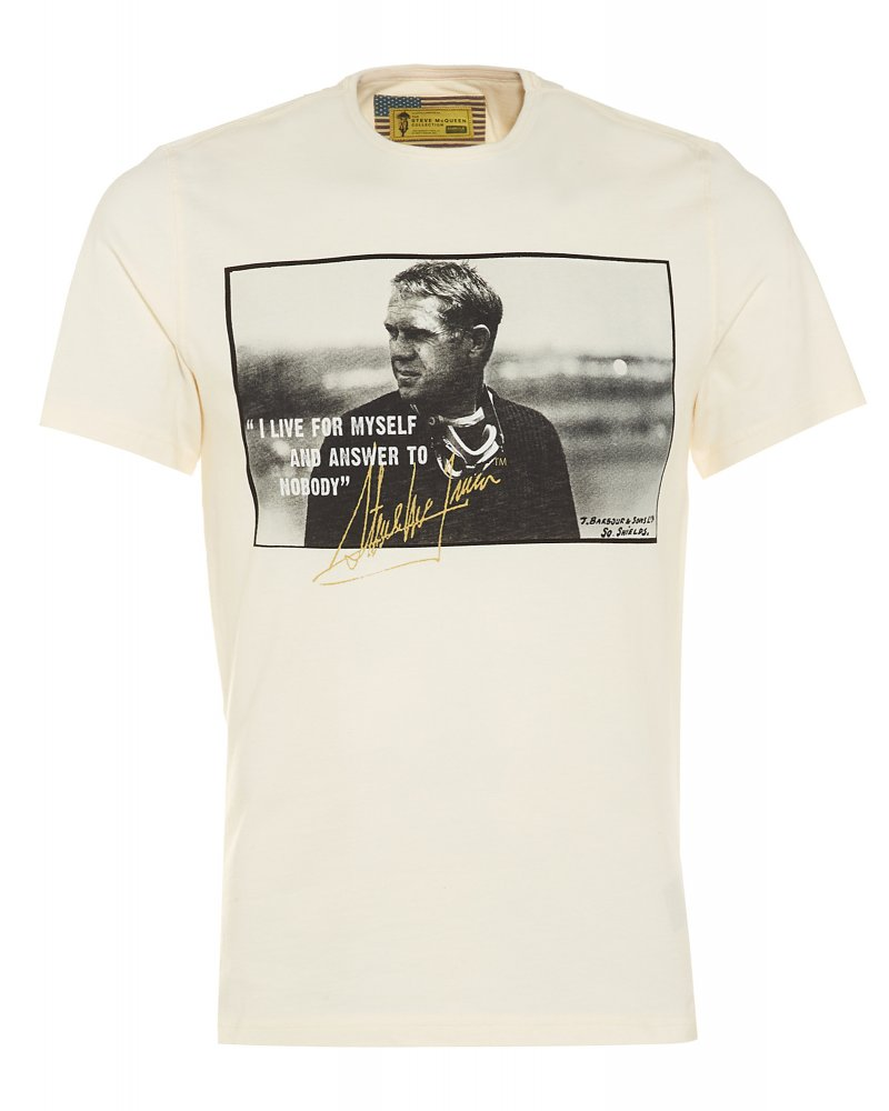barbour international chalk tanner tee steve mcqueen t shirt. Black Bedroom Furniture Sets. Home Design Ideas