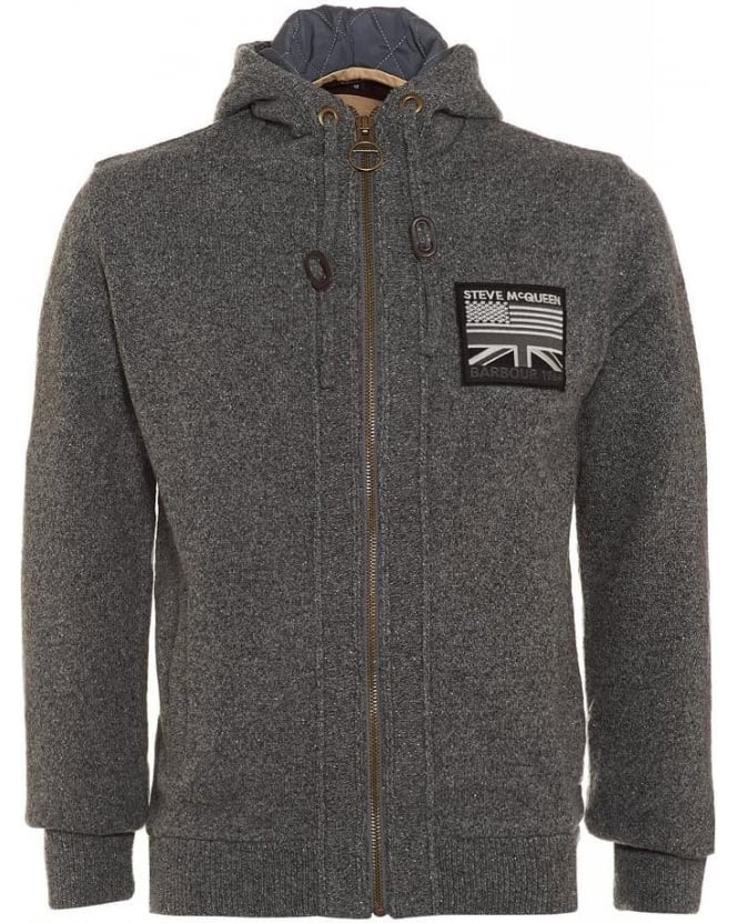 Barbour International, Grey Steve McQueen™ Hendley Hoodie