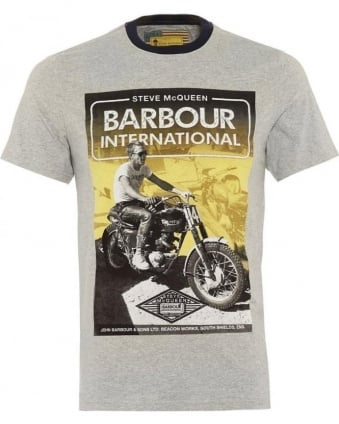 International Mens T-Shirt Blurred Cabell Grey Tee