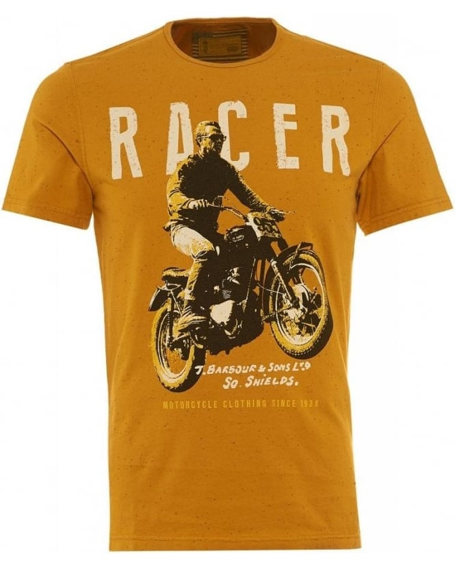 Barbour International Mustard Regular Fit 'Racer' T-Shirt