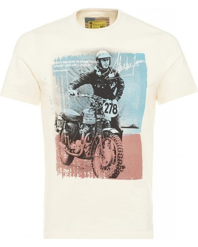 Barbour International Rickson Tee Chalk Steve McQueen™ T-Shirt