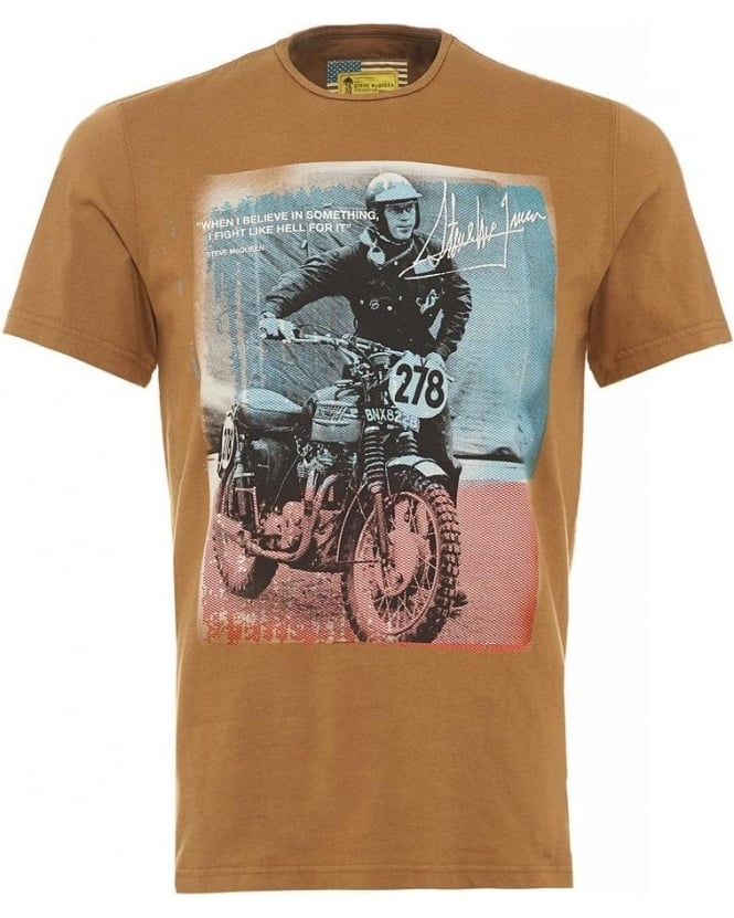 Barbour International Rickson Tee Sandstone Steve McQueen™ T-Shirt