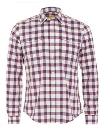 International Steve McQueen Sanford Mens Shirt Navy Red Check