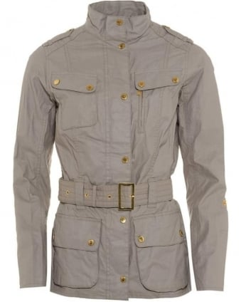 International Womens Jacket Broton Linen Casual Opal Grey Jacket