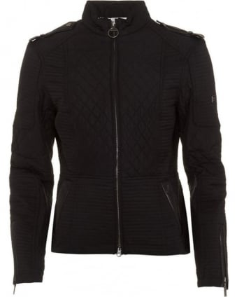 International Womens Jacket Folco Extractor Black Streak Quilted Black Jacket