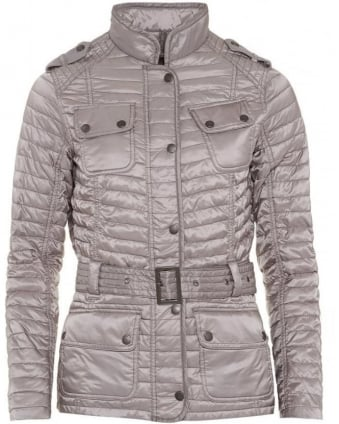 International Womens Jacket Leaf Spring Quilted Opal Grey Jacket