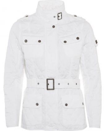 International Womens Jacket Spring Tourer Quilted White Jacket