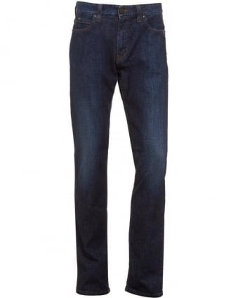 J15 Jeans, Dark Mid Blue Cross Hatch Regular Fit Jean