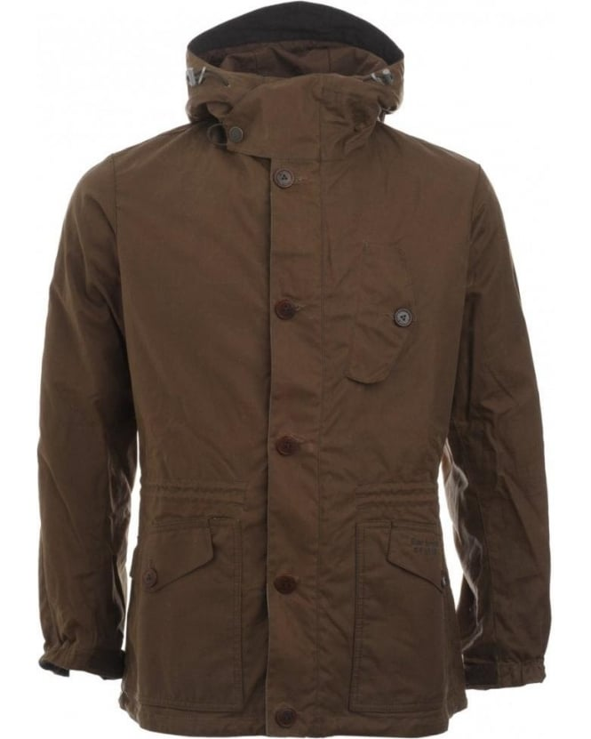 Barbour Jacket, Bark Dept B, Summer Parka Wax Jacket