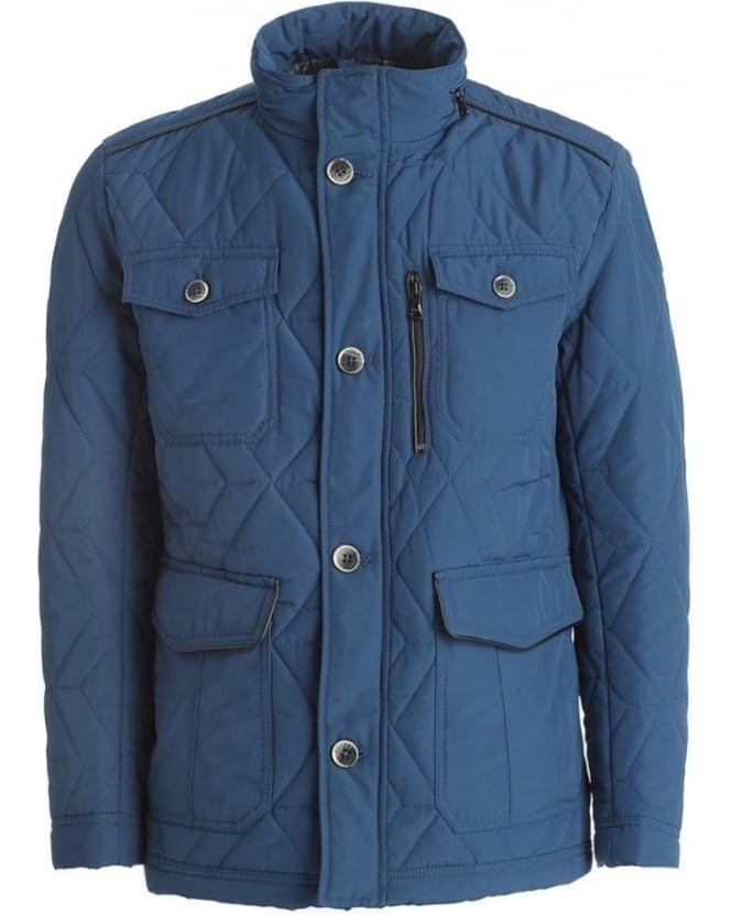 Hugo Boss Black Jacket, Blue Hooded 'Corzey' Field Jacket