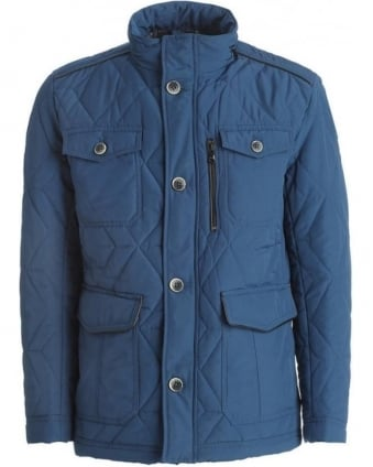 Jacket, Blue Hooded 'Corzey' Field Jacket