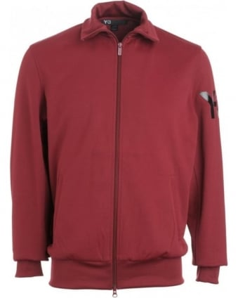 Jacket, Wine Zip Through Tracksuit Jacket