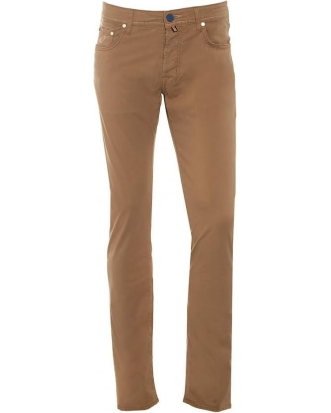 Jacob Cohen Mens Comfort Vintage Jeans, Beige Straight Leg Denim