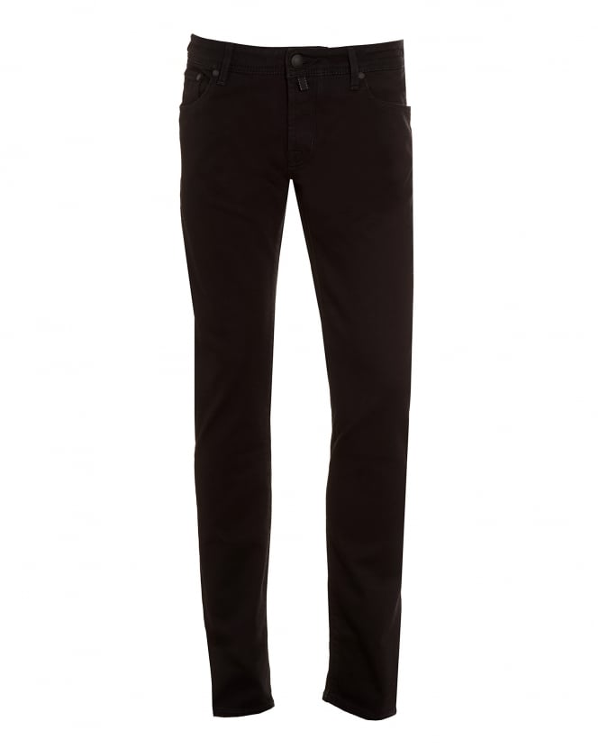 Jacob Cohen Mens Jeans, Slim Fit Black Denim