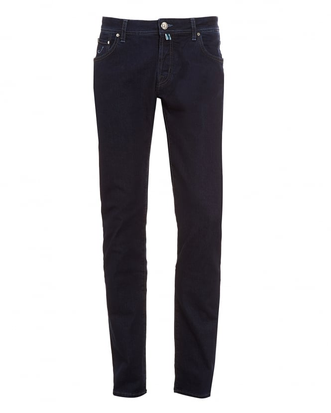 Jacob Cohen Mens Jeans, Slim Tapered Clean Ink Blue Wash Denim