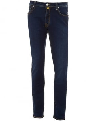 Mens Jeans Slim Tapered Stretch Wash 2 Jean