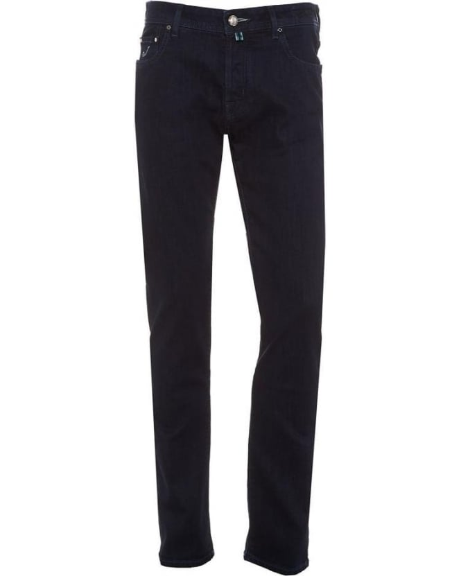Jacob Cohen Mens Jeans Tailored Stretch Denim Ink Indigo Wash Jean