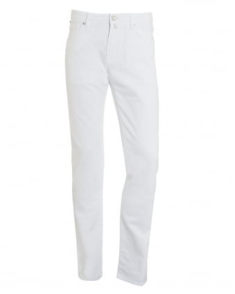 Mens Jeans, White Slim Fit Denim