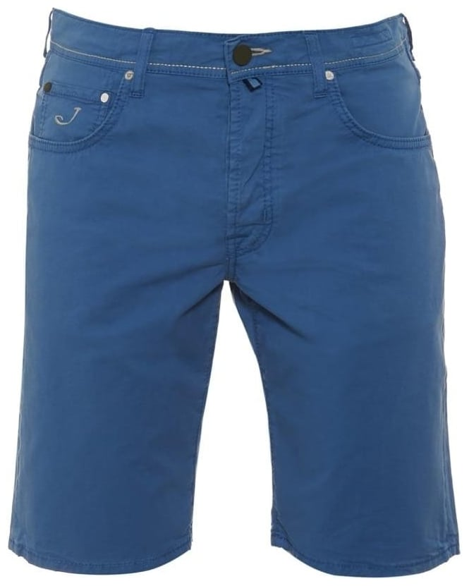 Jacob Cohen Mens Shorts, Regular Fit Blue Chino Short