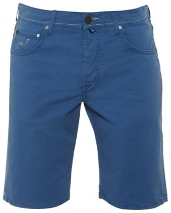 Mens Shorts, Regular Fit Blue Chino Short