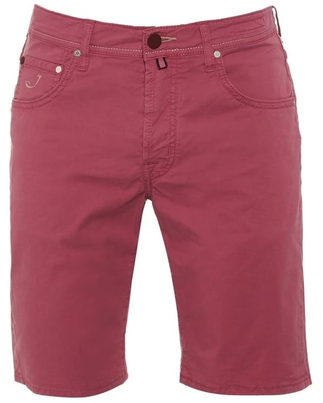 Jacob Cohen Mens Shorts, Regular Fit Pink Chino Short