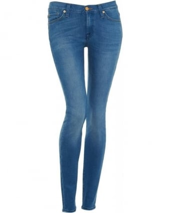 Jean Light Wash The Skinny Silk Touch Bright Blue Jean