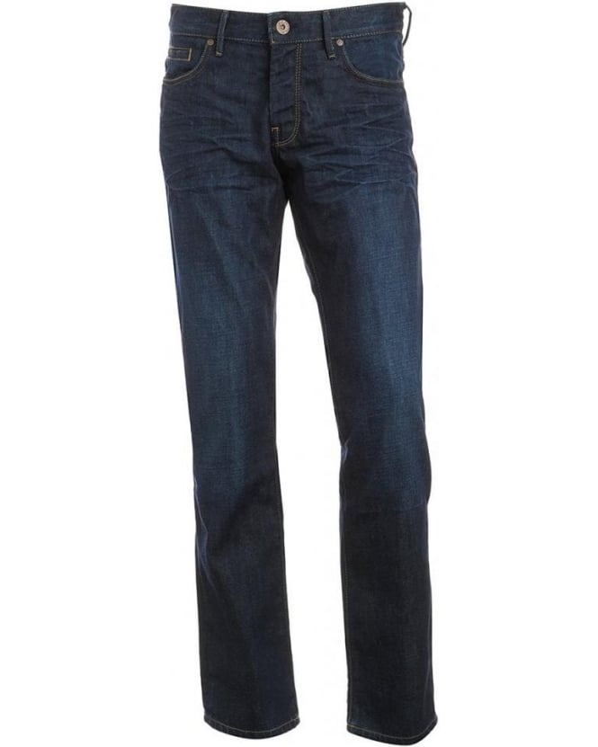 Hugo Boss Orange Jeans, Dark Crease Barcelona Regular Fit Jean