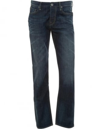 Jeans, Dark Dirty Regular Fit 'Orange25' Jean