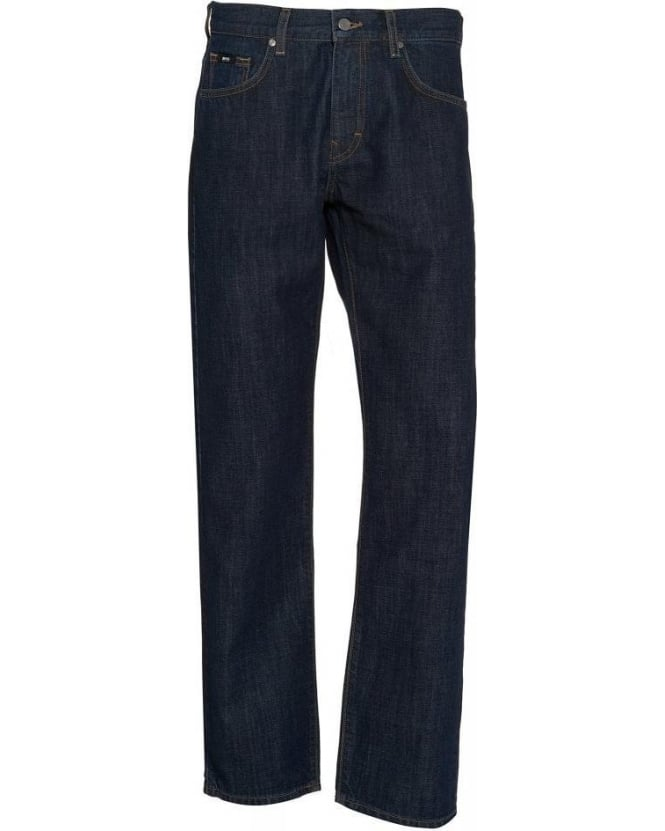 Hugo Boss Black Jeans Dark Wash 'Kansas' Regular Fit Jean