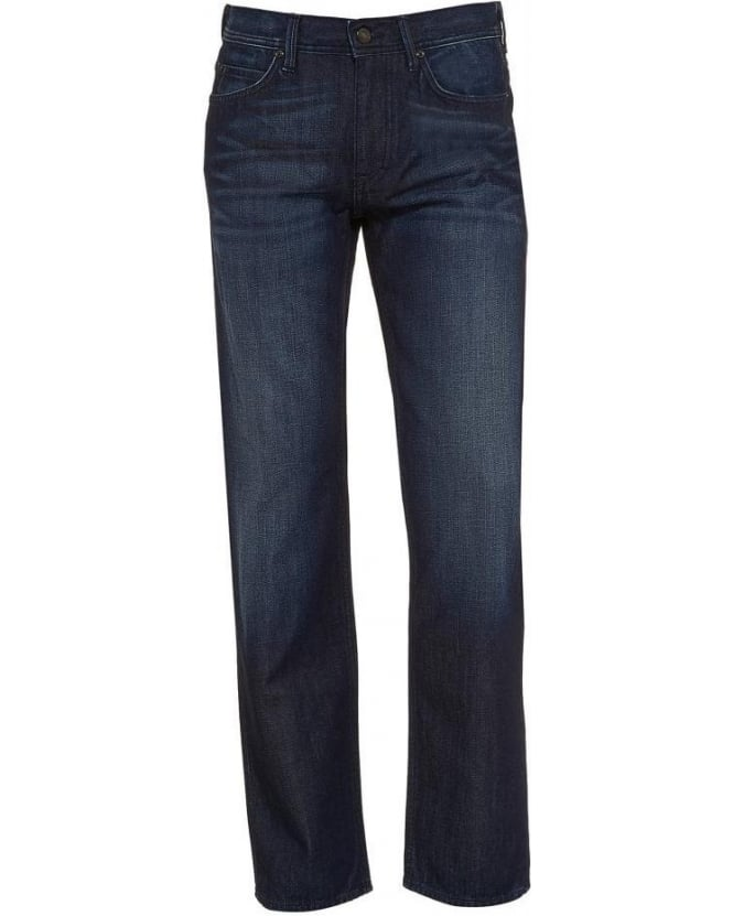Hugo Boss Green Jeans Dark Whisker 'Deam 30' Jean