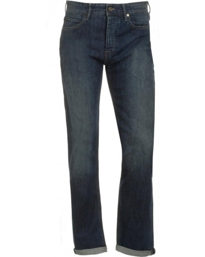 Hugo Boss Green Jeans, Mid Cross Regular Tapered 'Deam20' Jean