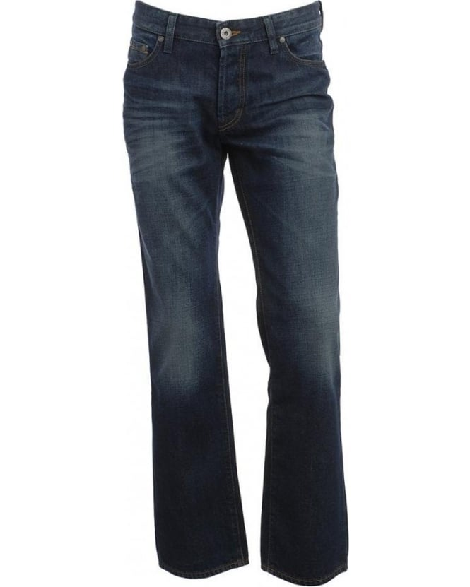 Hugo Boss Orange Jeans Mid Wash Cross Hatch Amsterdam Jean 50234863