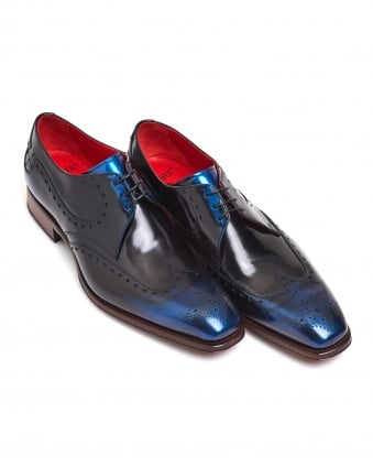Mens Atticus Taboo Two-Tone Shade Blue Derby Shoes