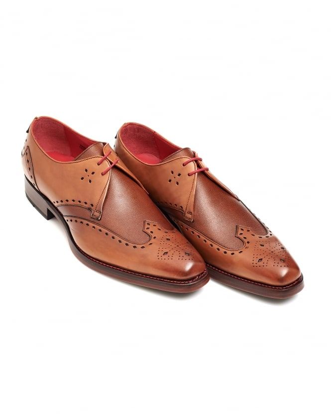 Jeffery West Shoes Mens Code Dexter Cross Punch Derby Brogue