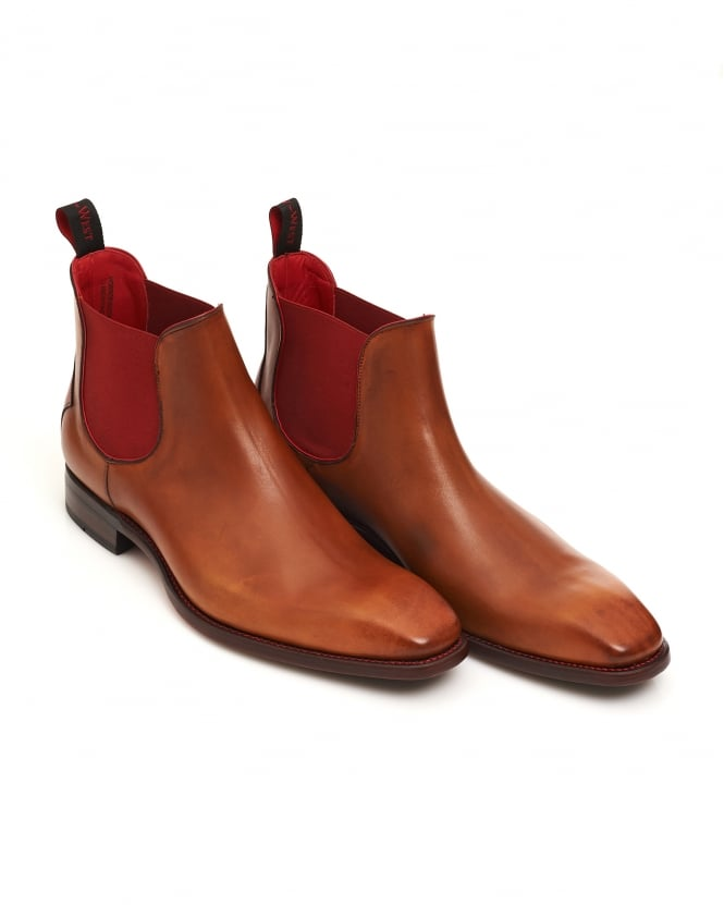 Jeffery West Shoes Mens Horror Show Tan Leather Chelsea Boots