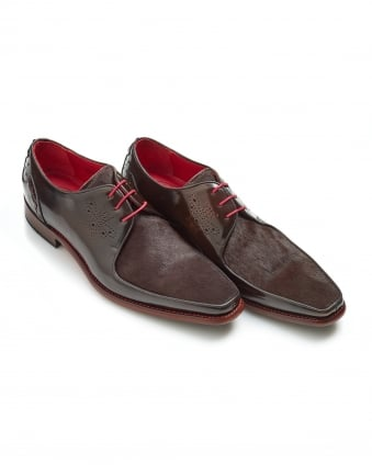 Mens Joint Melly Apron Pony Skin Antique Brown Shoes
