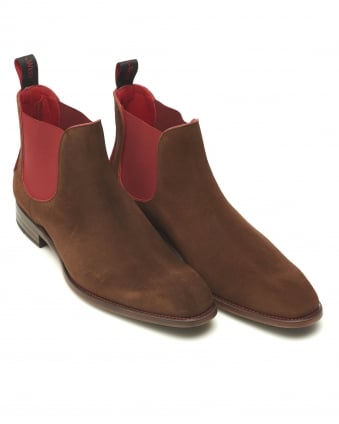 Mens Libertine Horror Show Suede Chestnut Chelsea Boots