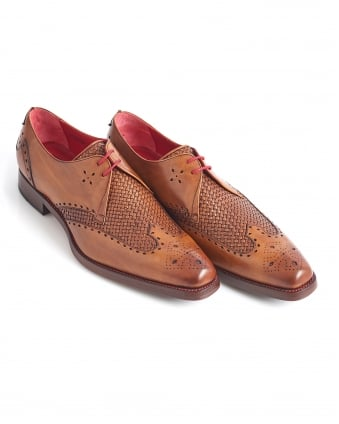 Mens Passenger Dexter Weave Leather Mahogany Shoe